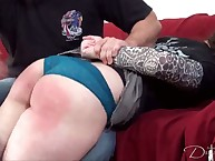 Callous flagellation for naughty chick