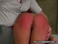 Hands On her spanked bottom