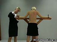 Dissolute chick gets barbarous spanks on her derriere