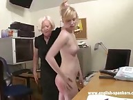 Blonde missy was spanked prestige the office