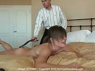 Naked Abigail Whittaker 40-stroke thonging