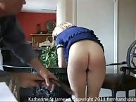 Katherine's 146-stroke bare bottom belting for letting colleagues do her work