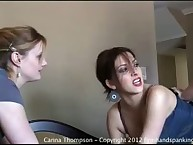 Hard education spanking for Carina Thompson
