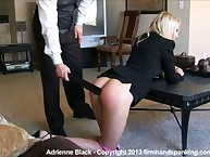 Blond babe paddled by boss