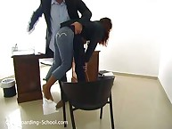 Young secretary was spanked