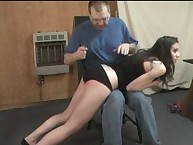 Devin's OTK Leather Quirt Spanking