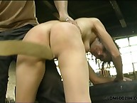 Brunette asked for raw spanking