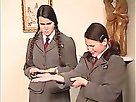 Lupus Spanking. School girls in uniform