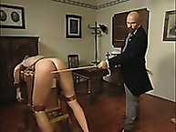 Lupus Spanking. Punishment with the cane