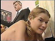 Lupus Spanking. Nude spanking