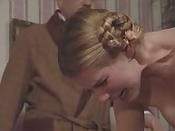 Beautiful Naked Blonde Takes Painful Caning Punishment