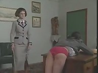 Bitchy maid Gets Caned Across their Asses