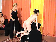Sexy Naked Girls Face Caning for Competition
