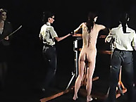 Lassie getting spanked in dark room