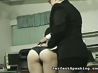 Strict lady boss spanked secretary