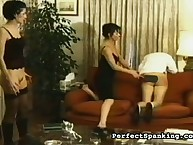 Prurient miss has hard spanks on her glutes