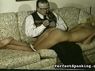 Slutty chick enjoys deadly spanking