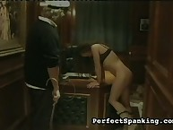 Ship captain spanks a slut