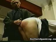 Schoolmaster invited imperceptible being spanking