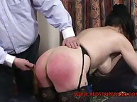 Mature Woman Paddled and Caned Before Bed