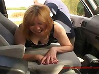 Spanked and Humiliated on the Side of the Road