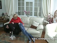 OTK spanking from strict mistress