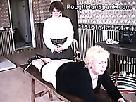Rough dude slap. fat blonde receives spanked