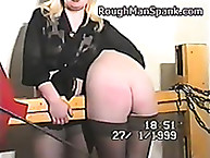 Rough Man Spank. Sweet young blonde