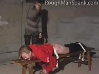 Blonde missy was spanked hard