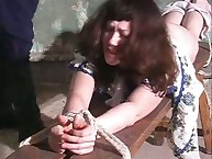 Russian spanking for bad chick