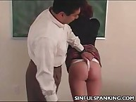 Unruly Schoolgirl was whipped