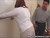 Office wench tomfool zone Spanked