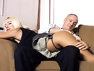 Young woman was spanked by daddy