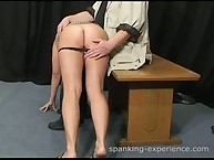 Raunchy flapper gets sadistic spanks on her posterior