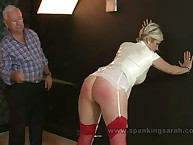 The miss was caned hard