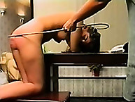 Red caning for fille`s ass