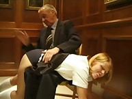 Headmistress loves punishing bad girl