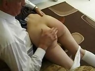 Naughty growing skirt Spanked also Paddled Raw