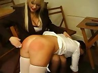 The submissive girl loves spanking