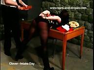 Voluptuous skirt gets cruel whips on her buttocks