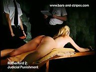 Naked Blonde Strapped to Table and Punished Hard