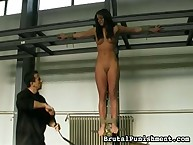 Bound chick was whipped hard