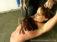 Bad fastened wench punished hard