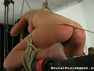 Spanking punishemnt with tied girl