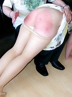 12 of OTK spanking goldhair daughter