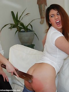 12 of Bare bottom spanking and strapping