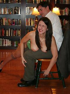 Big tits spanking
