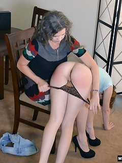 16 of Kay's mom spanks Elektra Rose