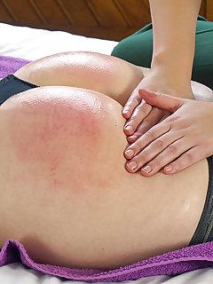 8 of Pandora spanks her oiled ass