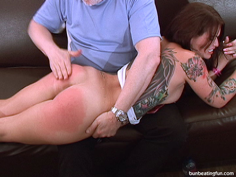 Mature blonde milf spanking